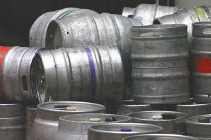 beermats-photo-of-pile-of-empty-steel-beer-kegs