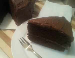 Hazelnut Brown Ale Choc Cake