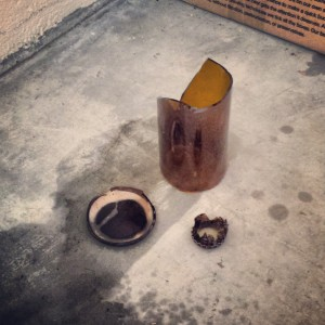 exploded homebrew bottle