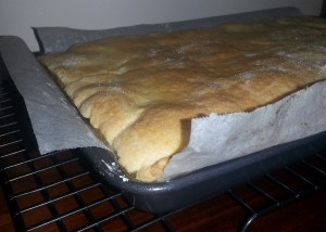 Apple slice fresh from the oven