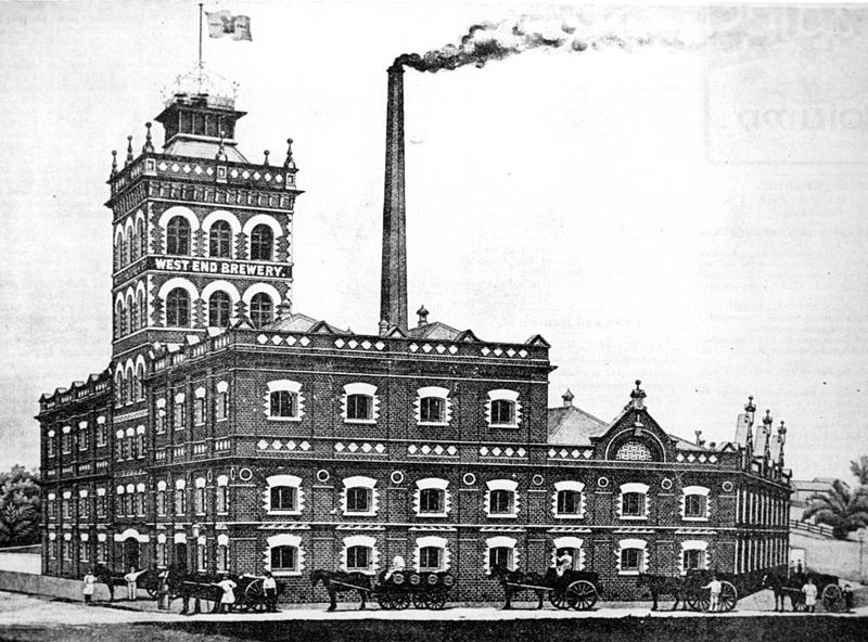 The brewery in 1896, after recovering from the floods. I assume it looks pretty similar to the pre-1893 version.