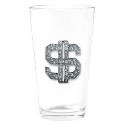 dollar sign glass